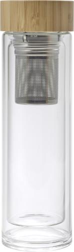 Billede af Bambus/glas termoflaske 420 ml.