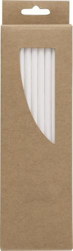 Billede af Æske m/50 stk sugerør i papir