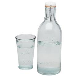 Billede af Vandflaske med glas