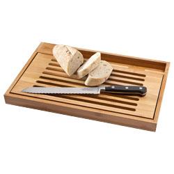 Billede af Bistro skærebræt med brødkniv