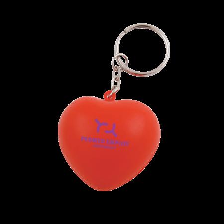 Billede af Anti-stress hjerte nøglering