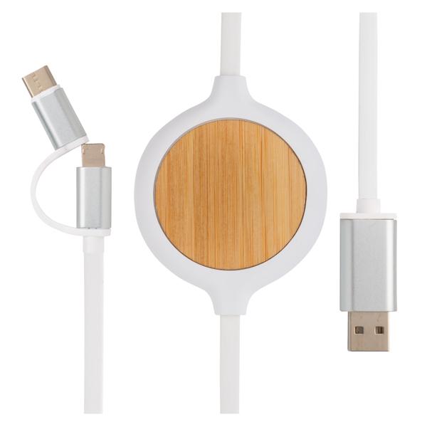 Billede af 3-i-1 kabel m/trådløs oplader