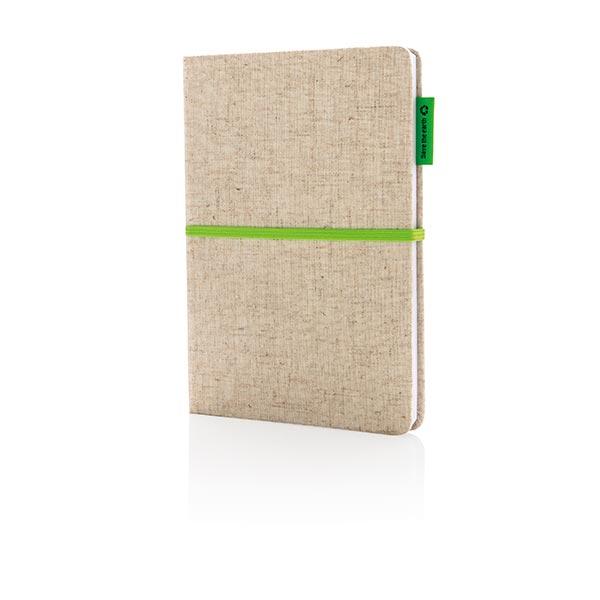 Billede af A5 Økologisk jutebomuld notesbog